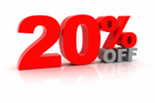 20 % off