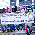 Backpack Project - A visible call for tougher gun legislatio