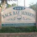 Back Bay Mission sign