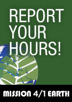Mission 4/1 Earth  report your hours