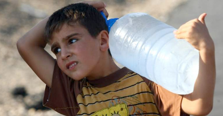 USAID Syrian Boy with Water